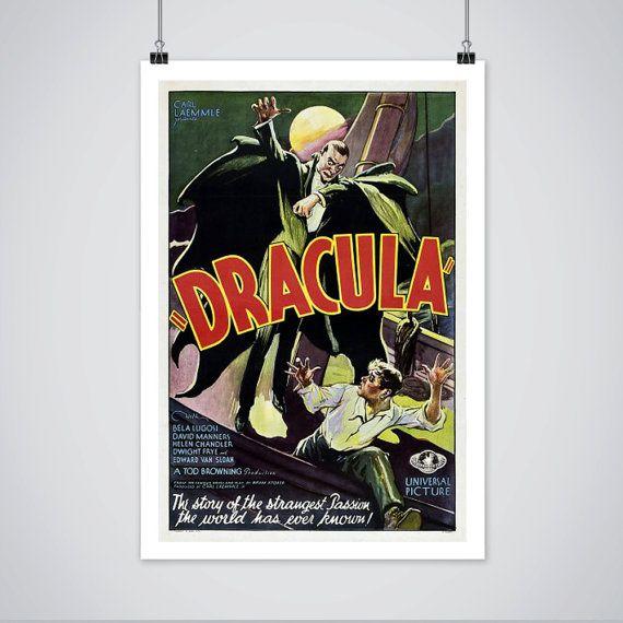 DRACULA  With  Bela Lugosi  Vintage HORROR Movie Poster