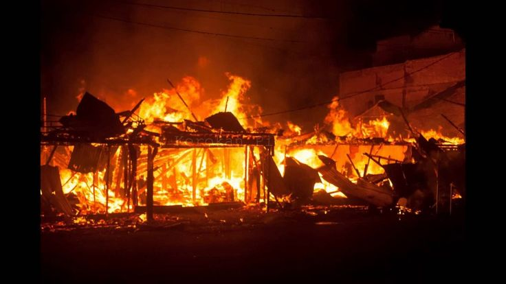 Rangkaian Foto Kebakaran di Kedai Kopi Hawaii,Pasar Kijang
