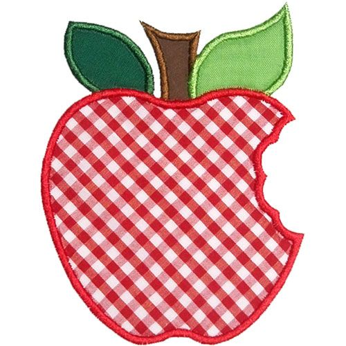 Apple Whole Bite Applique Design