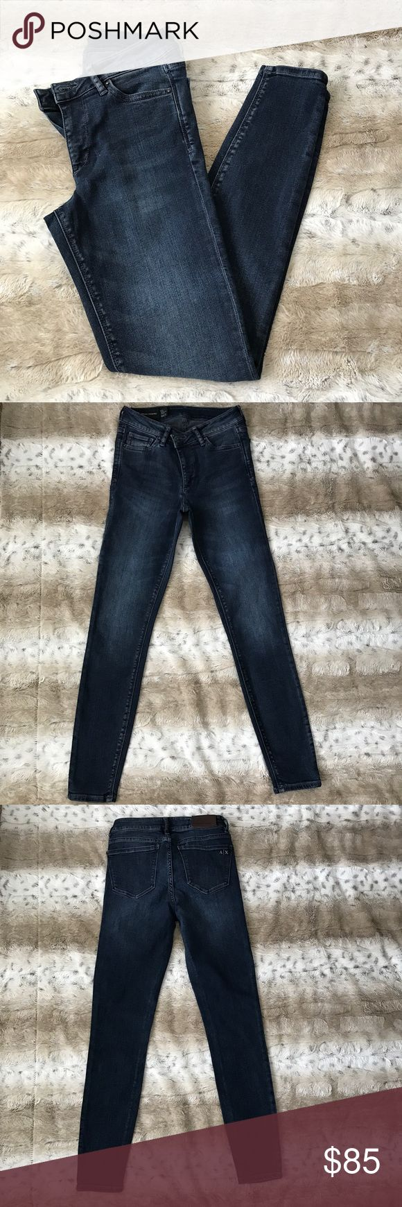 Armani Exchange Super Skinny Ankle Jeans Worn once!🔹Super skinny🔹Super stretch🔹Ankle length🔹Perfect with heels or sandals for spring/summer!🔹Mid rise A/X Armani Exchange Jeans Ankle & Cropped