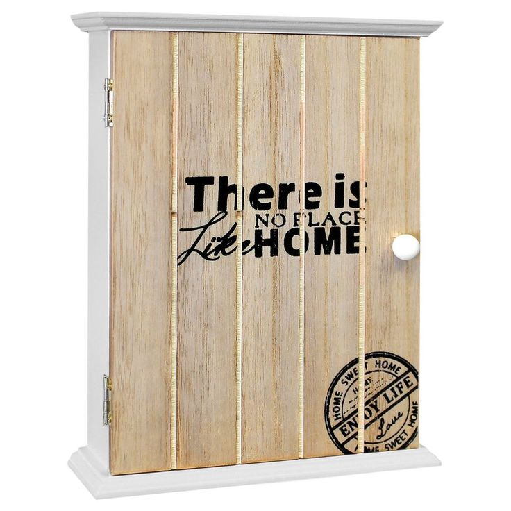 schl sselkasten holz schl sselbrett schl sselboard schl sselschrank wei natur m bel wohnen. Black Bedroom Furniture Sets. Home Design Ideas