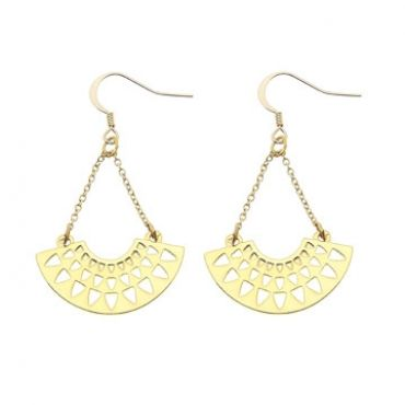 Santorini Earrings in Gold - available in gold and silver.$24.00 Get 25% off these earrings with coupon code 'foxy pin' www.foxyoriginals... #earrings, #goldjewelry, #goldearrings, #foxyoriginals, #sistergift, #statement, #jewelrygift, #holidaygift, #birthdaygift, #momgift