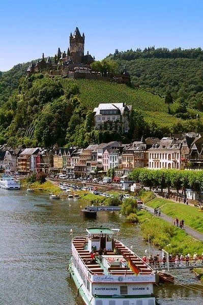 Cochem on the Rhine River - Germany