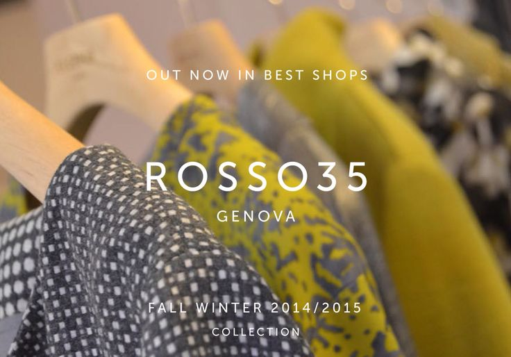 #rosso35 #genova #fashion #woman #womanswear #collection #aw1415