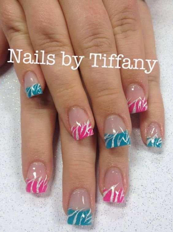 french acrylic nails ideas