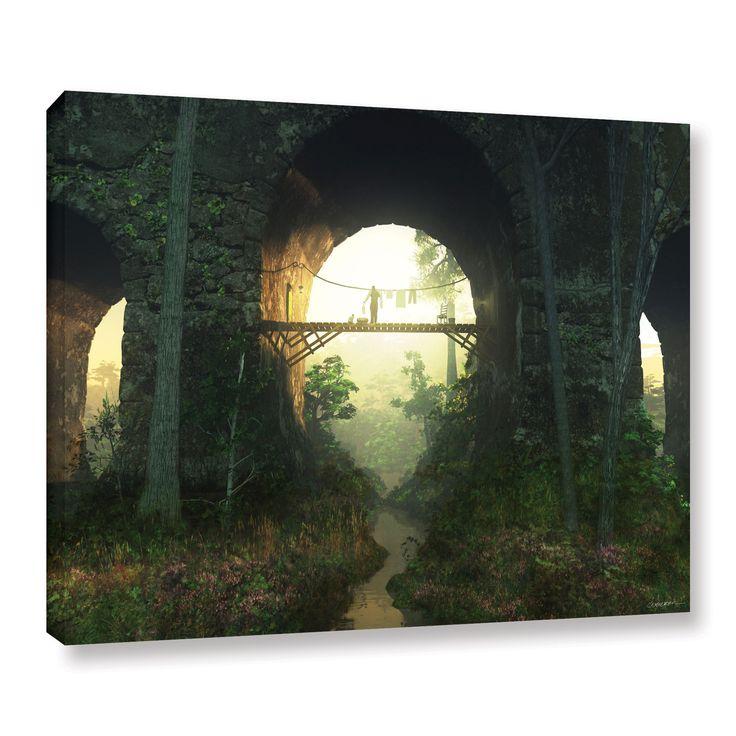 Artwall cynthia decker bridge under the bridge gallery wrapped canvas · posters for salethe bridgefine art printsonline