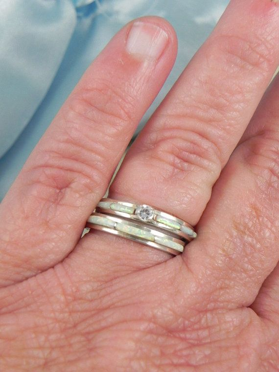 Native American Opal Wedding Ring Set By Hollywoodrings On Etsy 10000