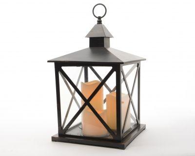 Lanterna LED Black 3 Ljus i gruppen EN SAGOLIK JUL / Jul i Järn och Koppar hos Celebrations.se (482426)