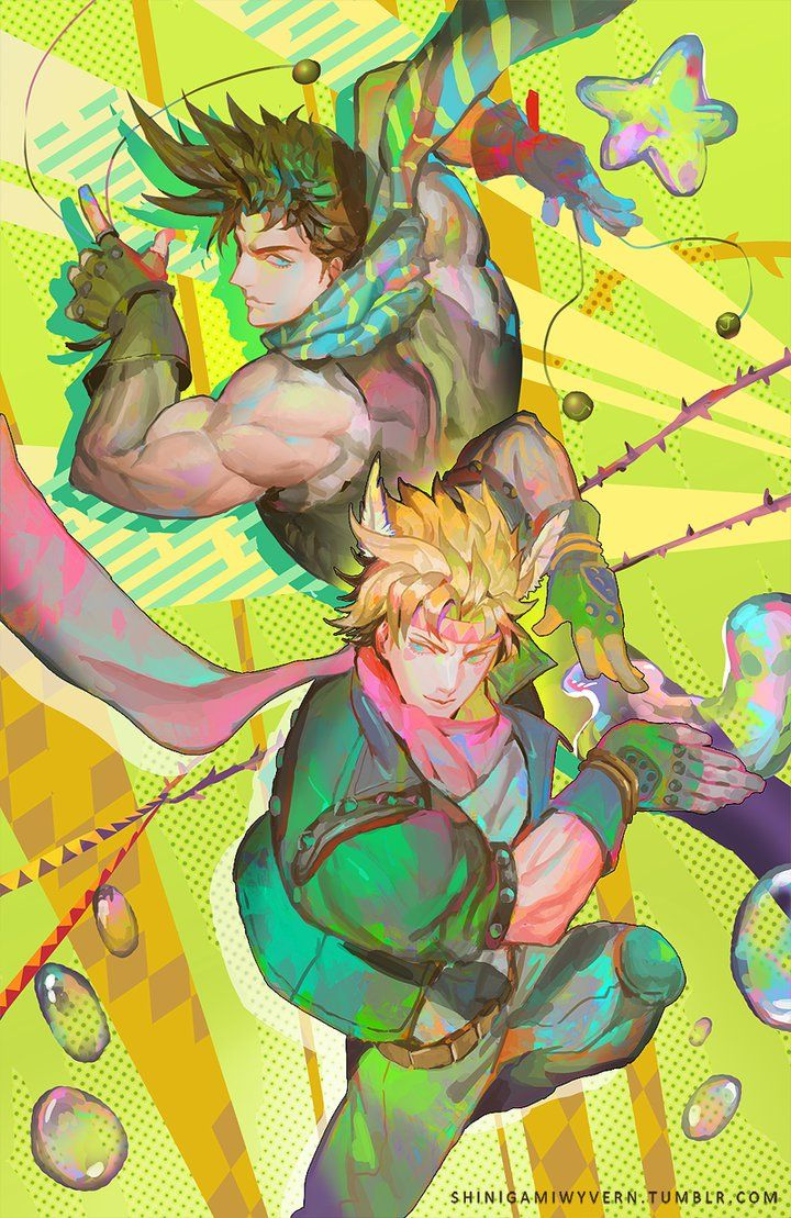 Joseph Joestar And Caesar Zeppeli Jojo Bizzare Adventure