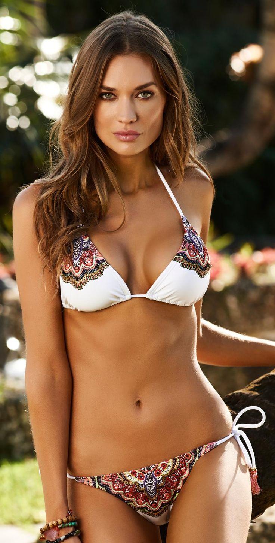 PilyQ 2014 Spring Raja White Triangle Bikini  bathing suit bikini one piece swimwear swimsuit summer beach