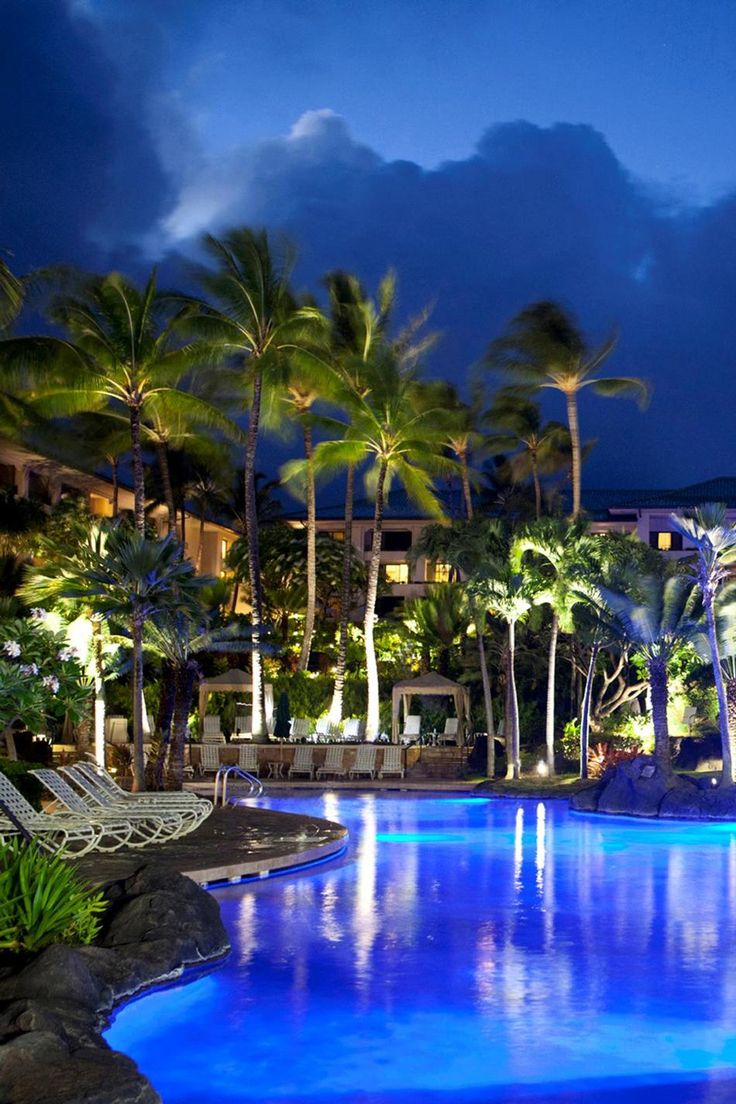 Grand Hyatt Resort & Spa - Kauai, Hawaii (one of the most beautiful places I've ever stayed.)