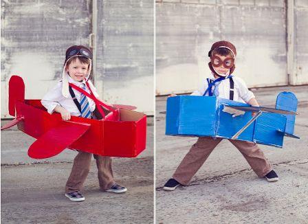 avião de caixa de papelao