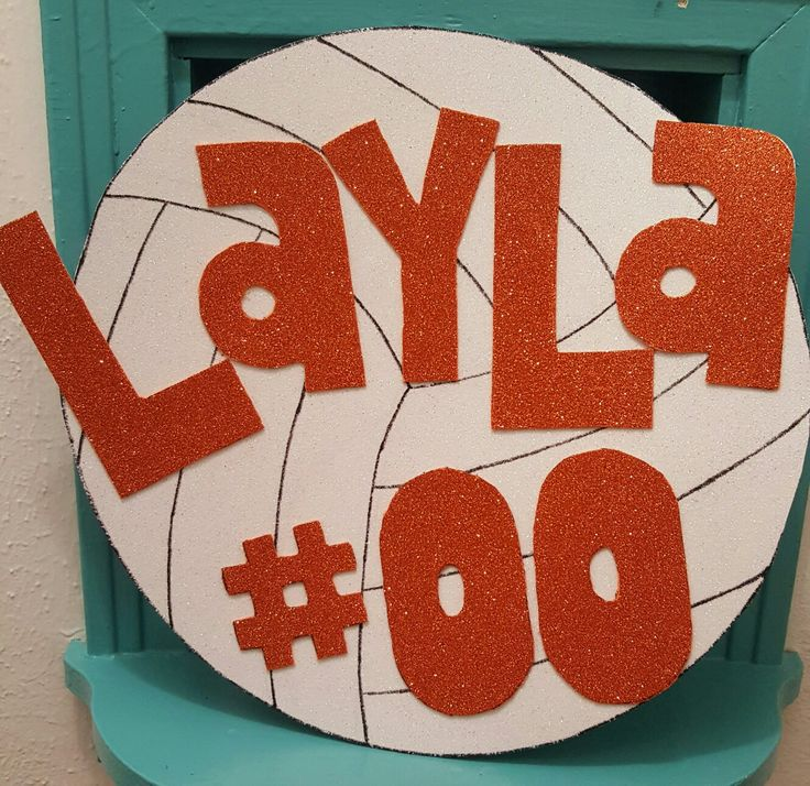 Volleyball poster/sign ideas diy