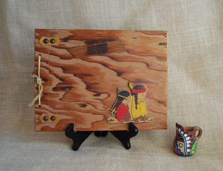 New Mexico Photo Album Vintage Wood New Mexico Handmade Souvenir Photo Album Scrapbook Folk Art Scrapbook Southwestern Memorabilia Americana by RandomAmazing on Etsy