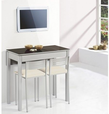Delumu cocina funcional zona comida desayuno mesa - Mesa cocina extensible ...