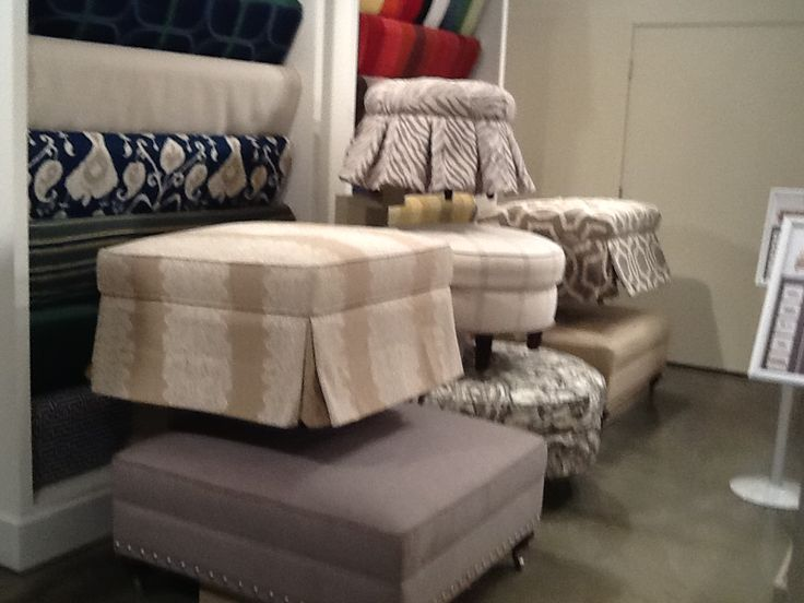 #bassettfurniture. See More. Custom Upholstered Ottomans To Suit Any Taste,  Style, Or Size Feet! Make It