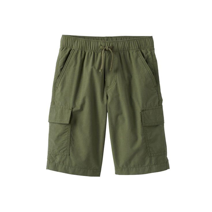 Boys 8-20 Urban Pipeline® Pull-On Cargo Shorts, Boy's, Size: Medium, Med Green