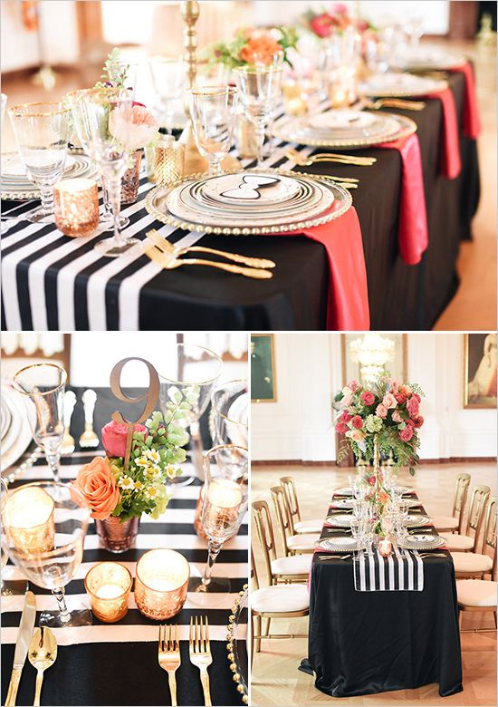Kate Spade Inspired Wedding Ideas Table Decor For Weddings Parties Pinterest Bridal Shower And