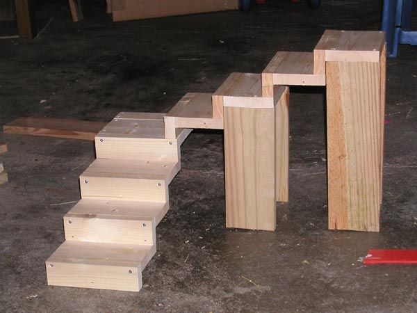 How to make stairs to a loft