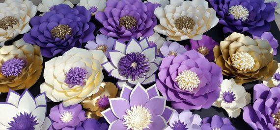 Telón de fondo de flores grandes de papel flores de papel