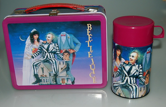 beetlejuice movie poster lunchbox vintage lunch boxes