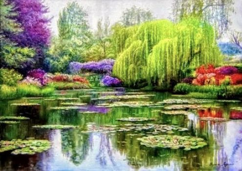 Beautiful weeping willow, and pond.. (140 pieces)