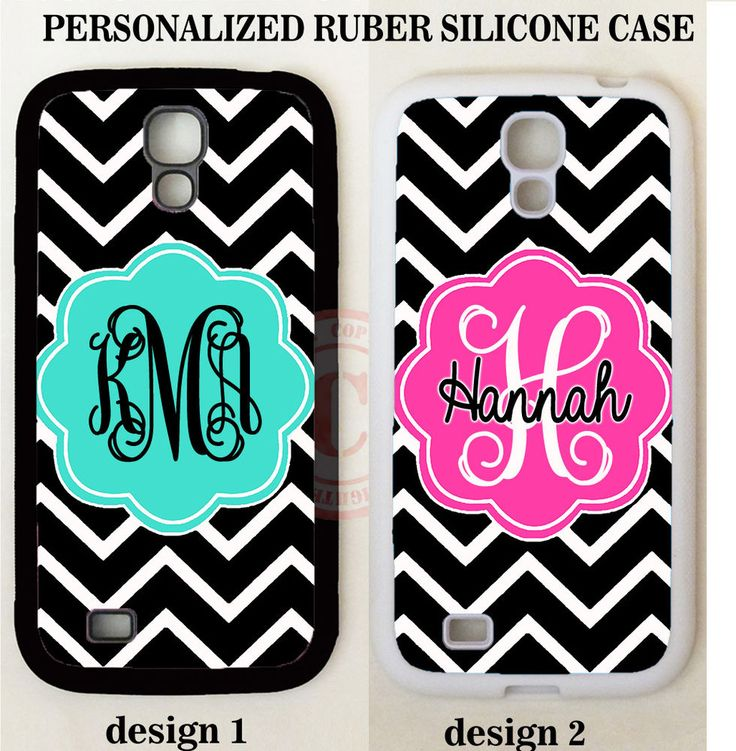BLACK CHEVRON TURQUOISE PINK MONOGRAM Case For Samsung Galaxy S7 S6 S5 NOTE 5 4 #UnbrandedGeneric