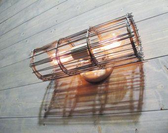 Luz de techo pequeña jaula de acero galvanizado  por VexDecor