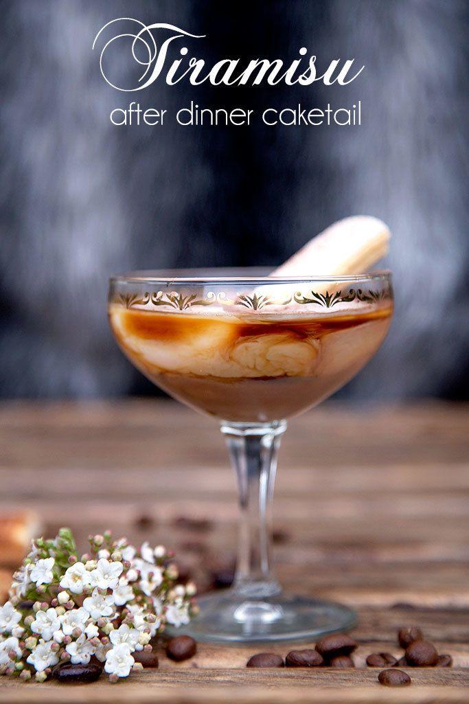 Tiramisu Cocktail - Caketail! Cocktail inspired by cake!
