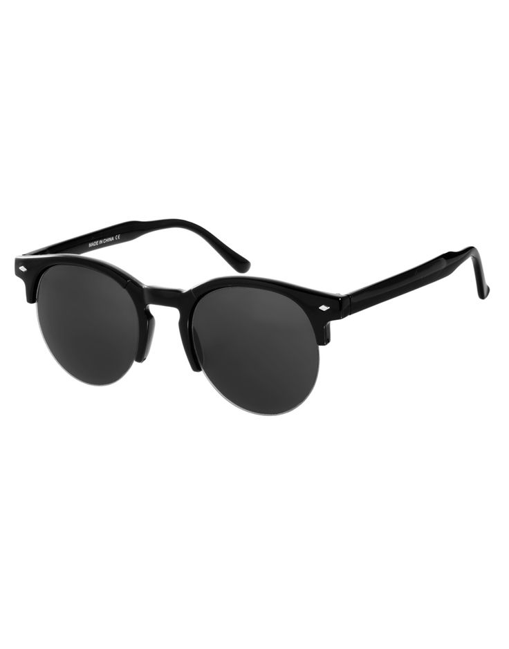 ASOS | ASOS Round Sunglasses with Cut Out Detail at ASOS