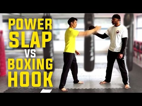 How to Knock Someone Out - Power Slap vs Boxing Hook Punch - YouTube