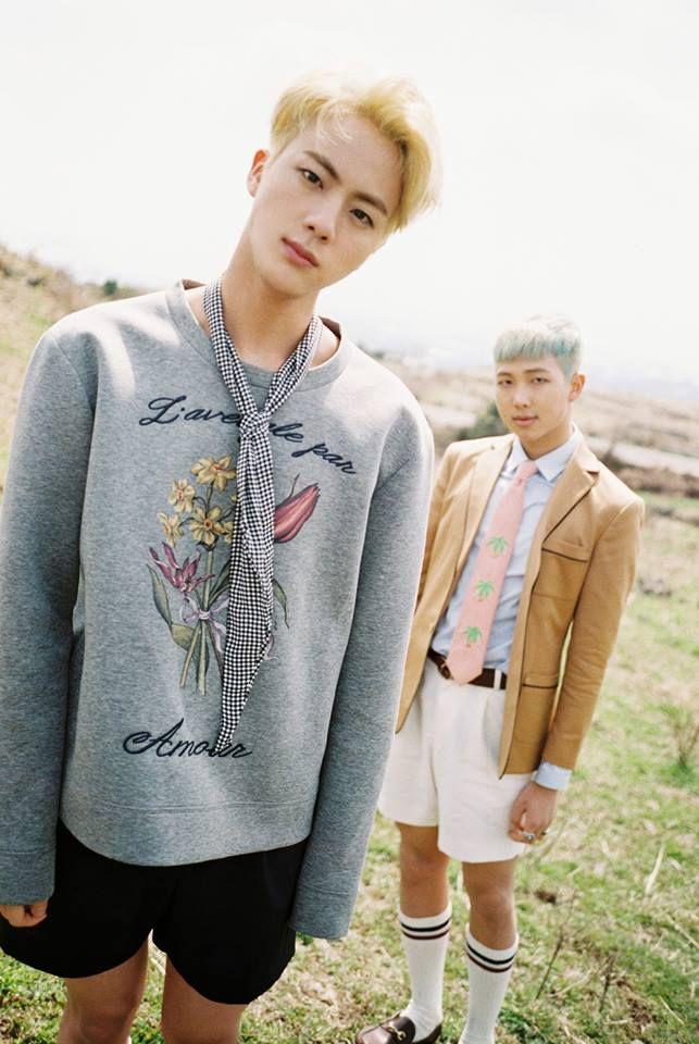 I freaking love blonde haired Jin!!!