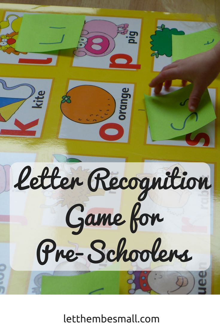 This fun pre schooler letter recognition game is great to help children with their letters