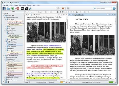 Using Scrivener and Evernote to Write Your Book Scrivener is the writing tool, and Evernote is the planning tool. Sure, there's overlap–both are outstanding programs intended for being used in whatever way you want, but you can't beat the writing environment in Scrivener, nor the syncing abilities included in Evernote. LiveHacked.com