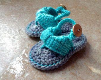 Crochet Baby flip flops Baby Flip Flops by DOVIESlovingKNITS