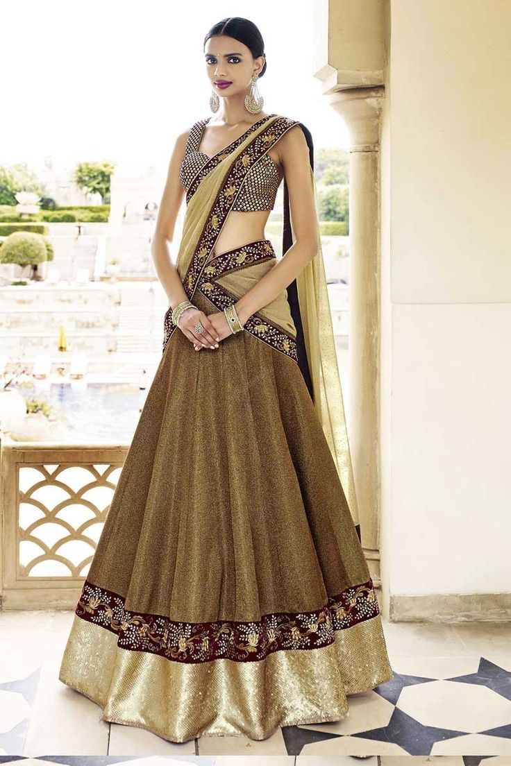 Boutique pour de nouvelles élégant #Beige Art Soie Lehenga Choli avec Dupatta #AndaazFashion  http://www.andaazfashion.fr/womens/lehenga-choli/beige-art-silk-lehenga-choli-with-dupatta-dmv8540.html