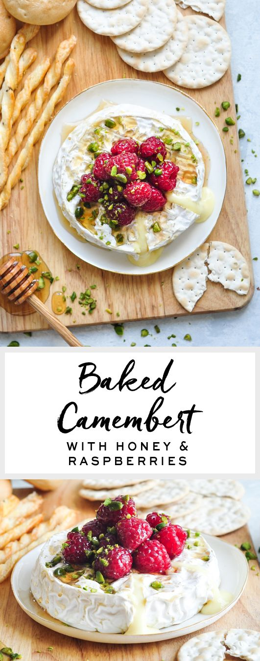 Baked Camembert with Honey & Raspberries | Baked Brie | eatlittlebird.com