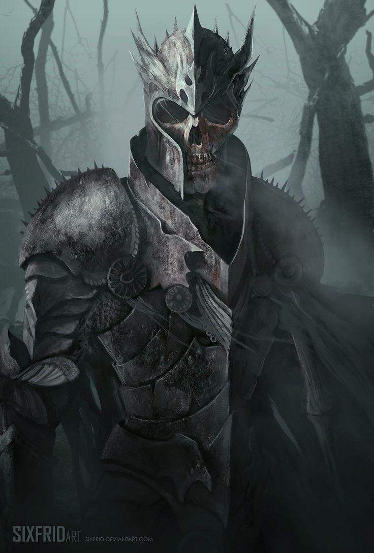 Tohel - Lich Clérigo, utiliza uma armadura de batalha completa. Somente o seu braço cadavérico esquerdo esta sem essa proteção, e isso chama a atenção para as unhas de sua mão, que parecem delicadas e pintadas com um vermelho desbotado.