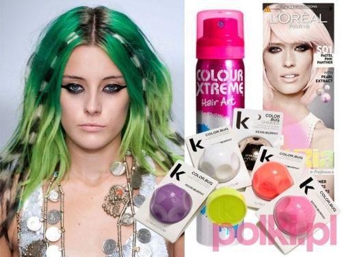 Kolorowe końcówki włosów to hit wiosny i lata 2014! #polkipl