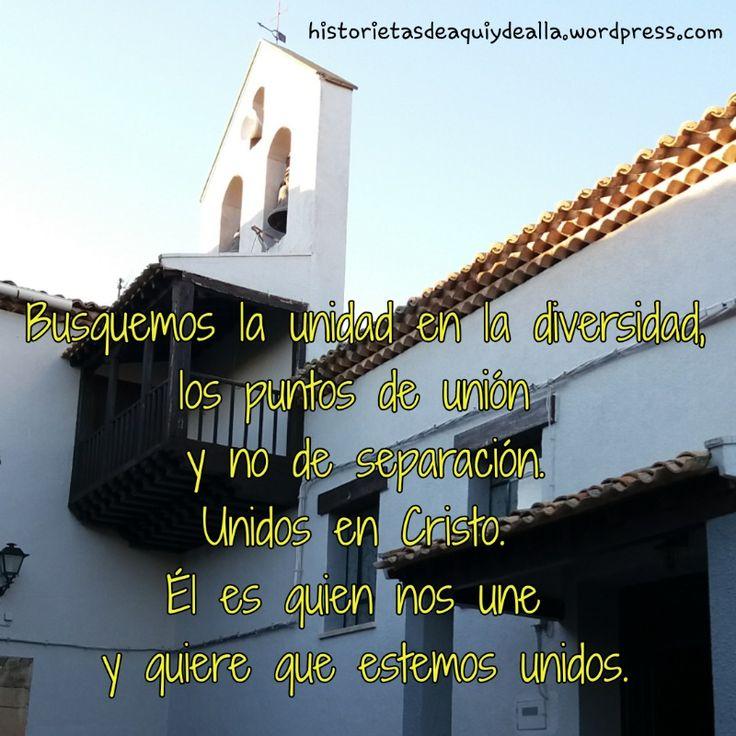 De la homilía de hoy: Dios quiere que estemos unidos.