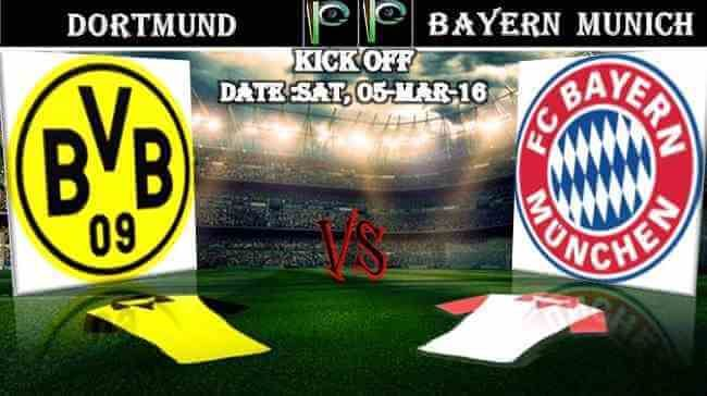 Borussia Dortmund vs Bayern Munich 05.03.2016 Predictions | PPsoccer
