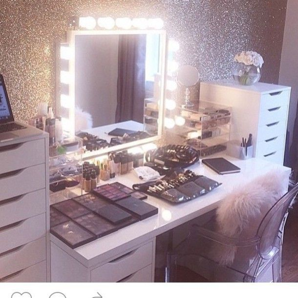 28 Diy Simple Makeup Room Ideas Organizer Storage And Decorating Beauty Room Makeup Beauty Room Glam Room