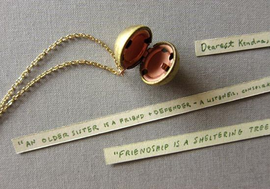 Best of 2012: Meaningful DIY Bridesmaid Gifts. This is such a great idea for a gift for the bridal party!
