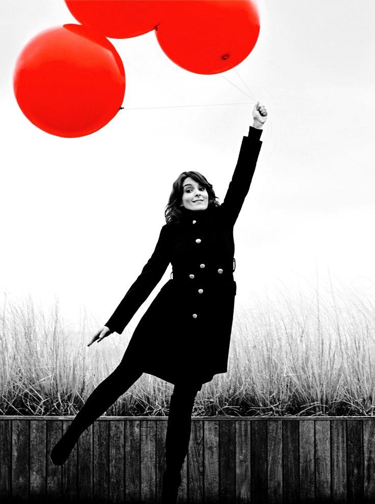 Tina Fey: Tinafey, Inspiration, Red Balloons, Black And White Tina Fey, Celeb, Awesome Pin, Random Pin, Admire, People