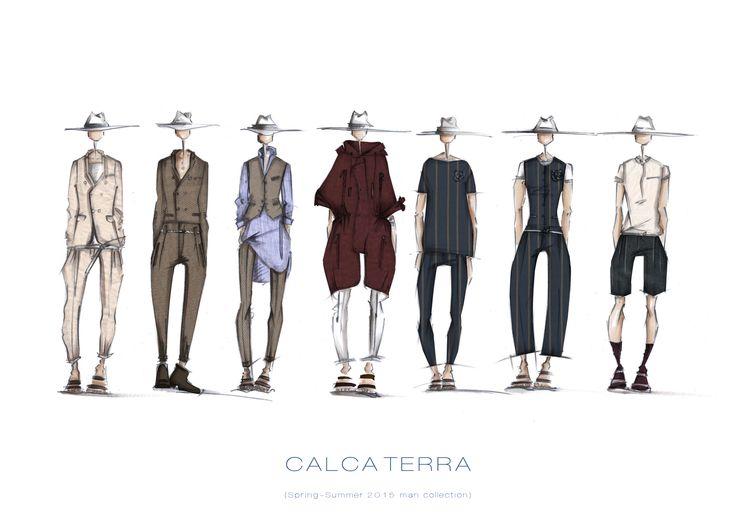 SS 2015 CALCATERRA man collection sketches