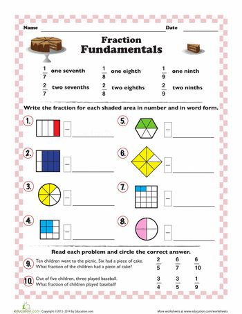 introduction to fractions to print introduction to fractions fractions worksheets fractions. Black Bedroom Furniture Sets. Home Design Ideas