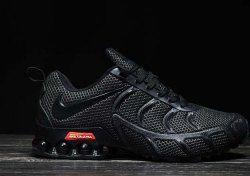 the latest f5cfe c2d92 Nike Air Shox KPU 2019 Triple Black Shox R4 Men s Athletic Running Shoes