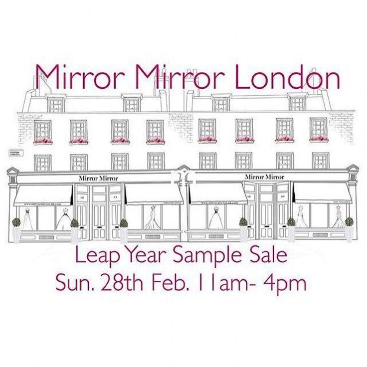 Mirror Mirror Couture bridal sample sale -- Sample sale