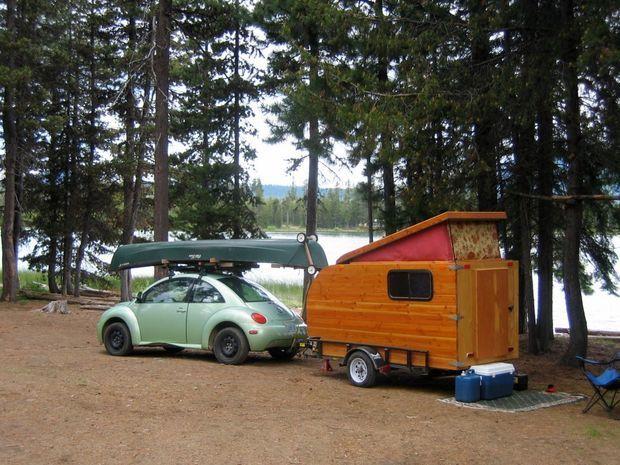 """""""Kleine Cabine"""" - Dutch for """"Little Cabin"""" - Self-made Wooden Camper"""