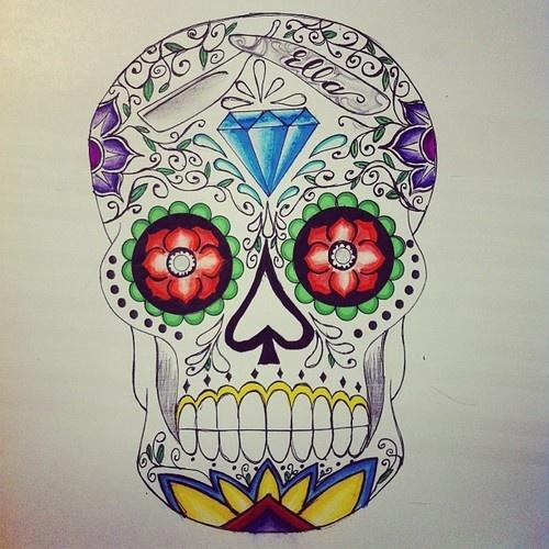Sugar Skull by #ellastreetart